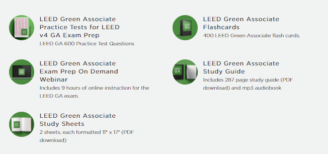 leed exam prep green associate bundle